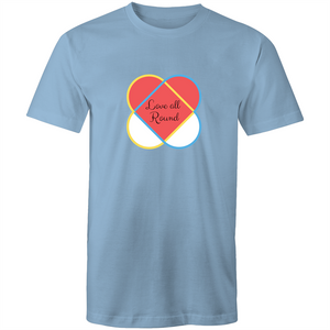 Colour Staple T-Shirt – Love all around - Mens