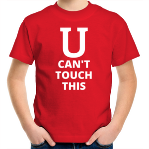 Sportage Surf - U can't touch this - White Text - Kids Youth T-Shirt