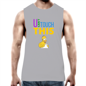 Tank Top Tee – U can't touch this - Homer – Mens