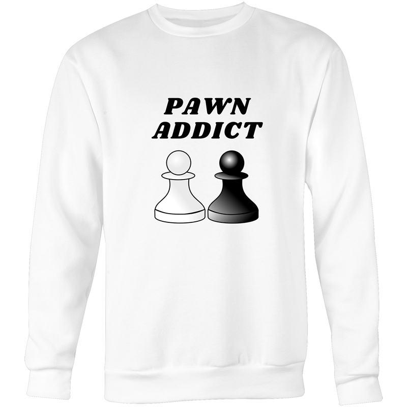 Crew Neck Jumper Sweatshirt - Pawn Addict - Unisex