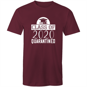 Colour Staple T-Shirt – Class of 2020 Quarantined - white text - Mens