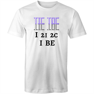 Colour Staple T-Shirt – Eye to eye to see I be - black text - Mens
