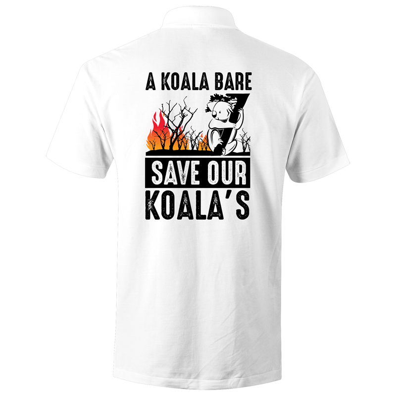 Polo Shirt - A Koala Bare - Black text - AS Colour Chad