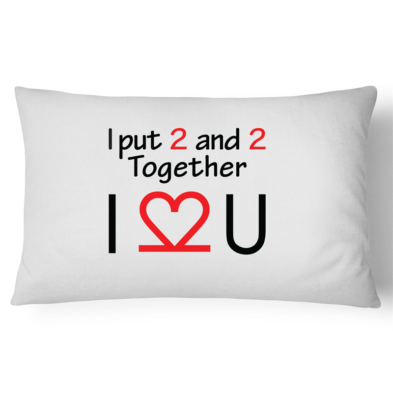 Pillow Case - I Love You - 100% Cotton