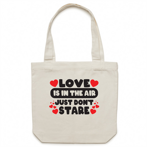 Canvas Tote Bag - Love is in the air - Carrie
