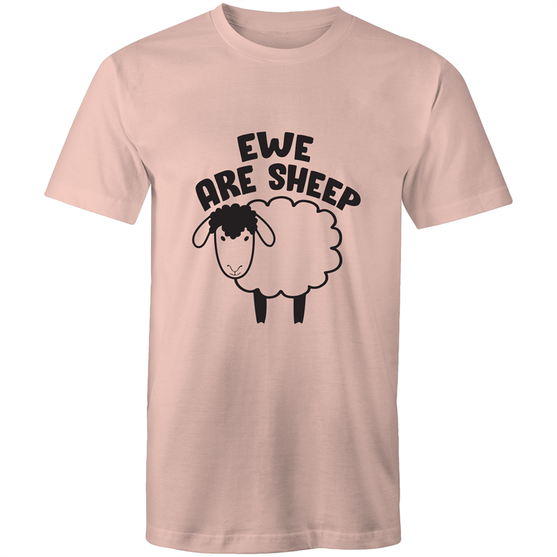 Colour Staple T-Shirt – Ewe are sheep - black text - Mens