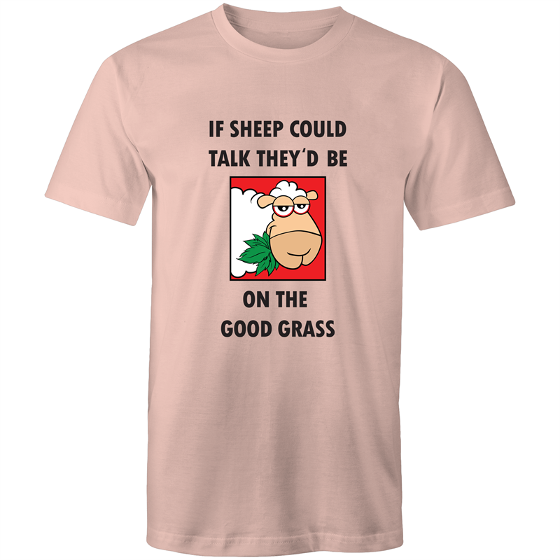 Colour Staple T-Shirt – If sheep could talk - Black text - Mens