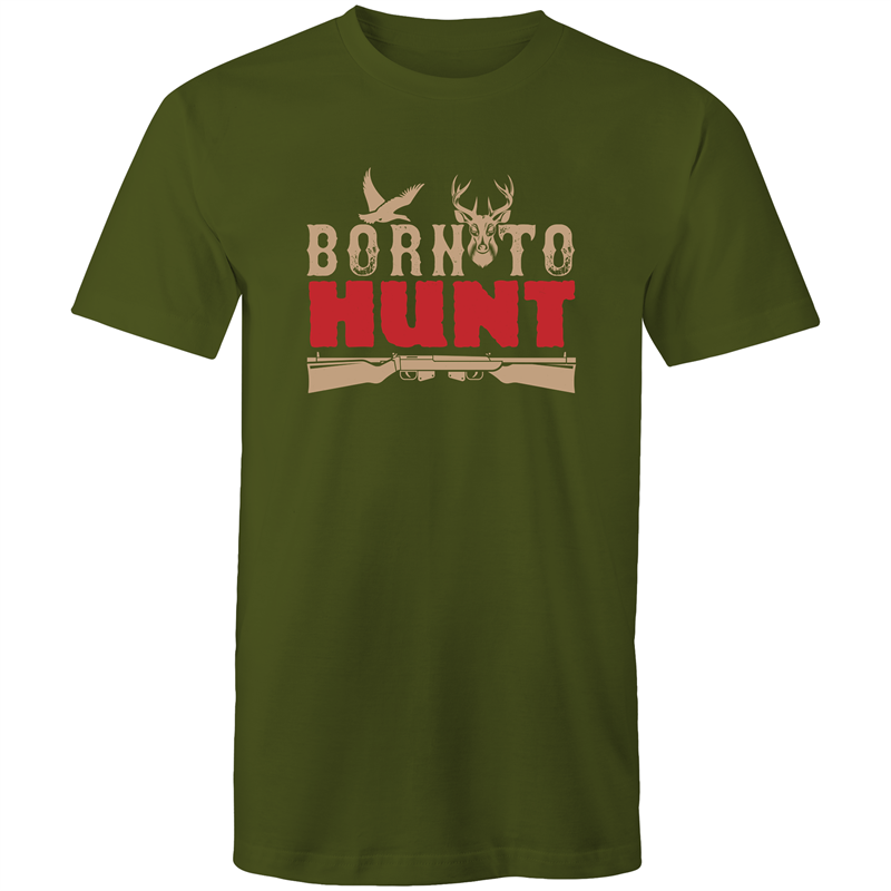 Colour Staple T-Shirt – Born to hunt - Mens