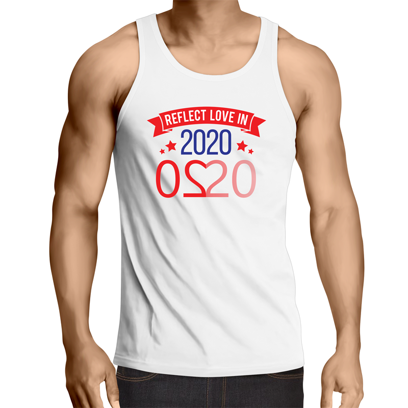 Singlet Top - Reflect Love in 2020 - Mens – WHITE SHIRT ONLY