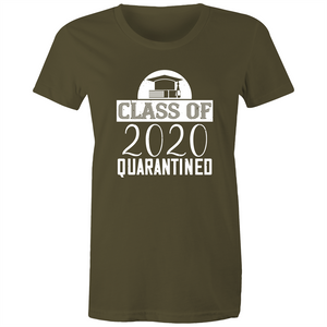 Maple Tee – Class of 2020 Quarantined - White Text - Women's