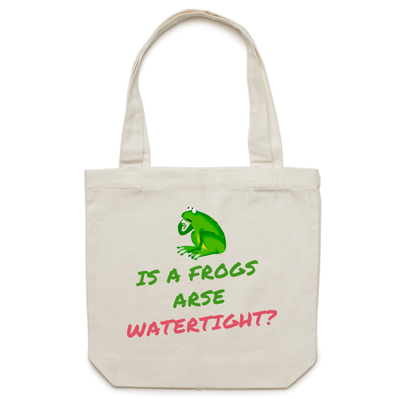 Canvas Tote Bag - Is a frogs arse watertight? – Carrie