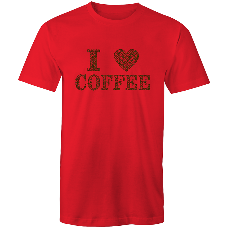 Colour Staple T-Shirt – I Love Coffee - Mens