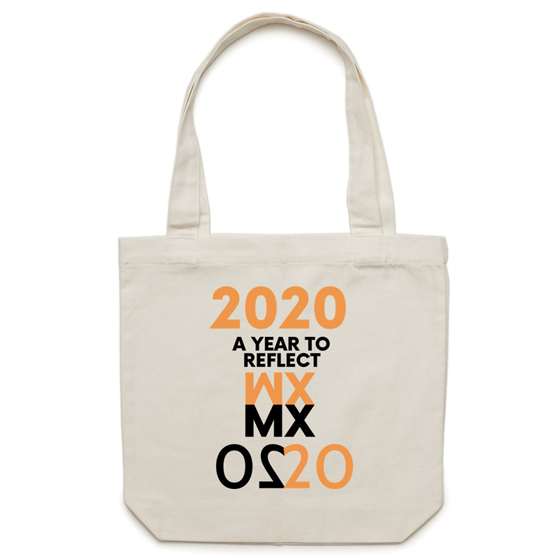Canvas Tote Bag - 2020 a year to reflect – Carrie