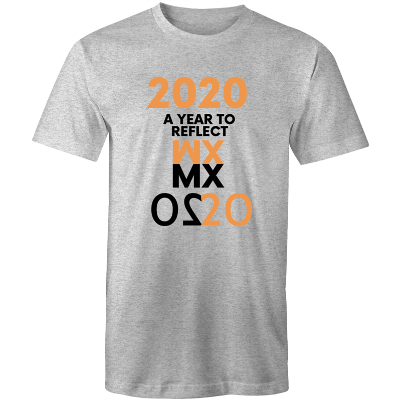 Colour Staple T-Shirt – 2020 A year to reflect – black text - Mens