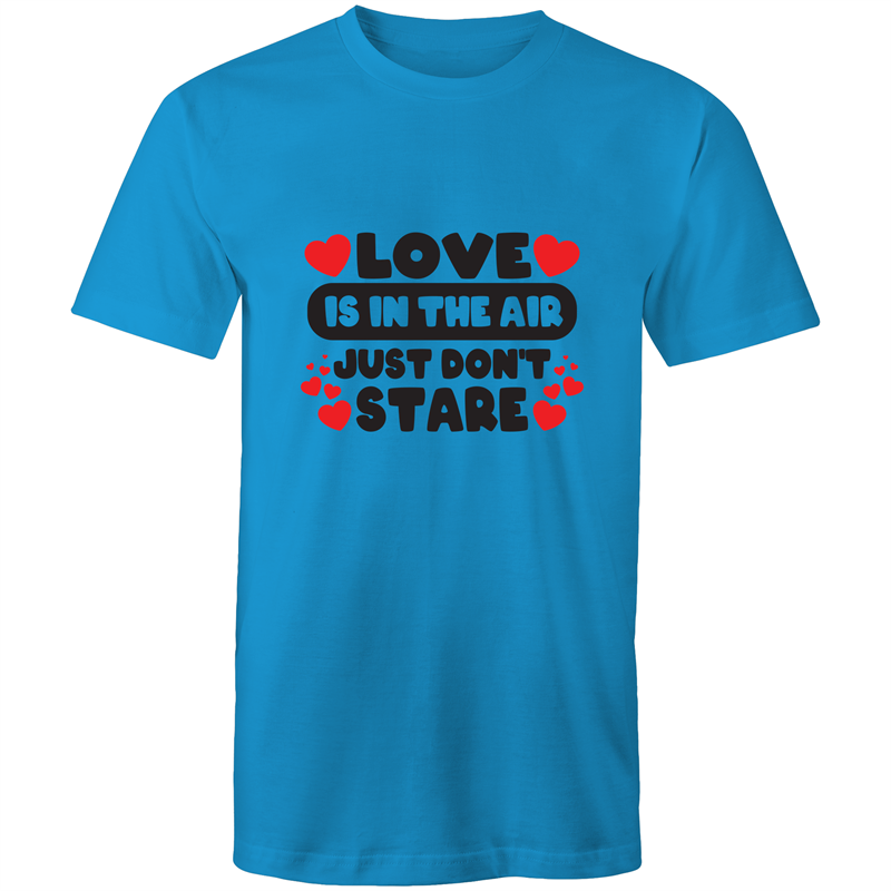 Colour Staple T-Shirt – Love is in the air - black text - Mens