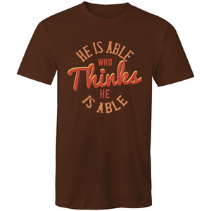 Colour Staple T-Shirt – He is able who thinks he is able - Mens