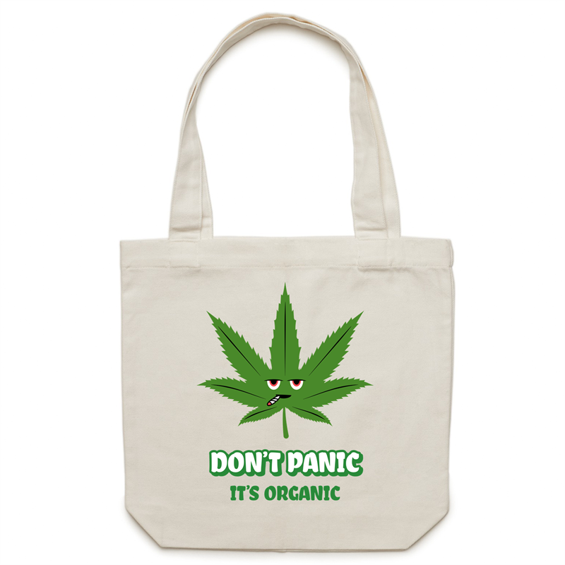 Canvas Tote Bag - Don't panic it's organic – Carrie