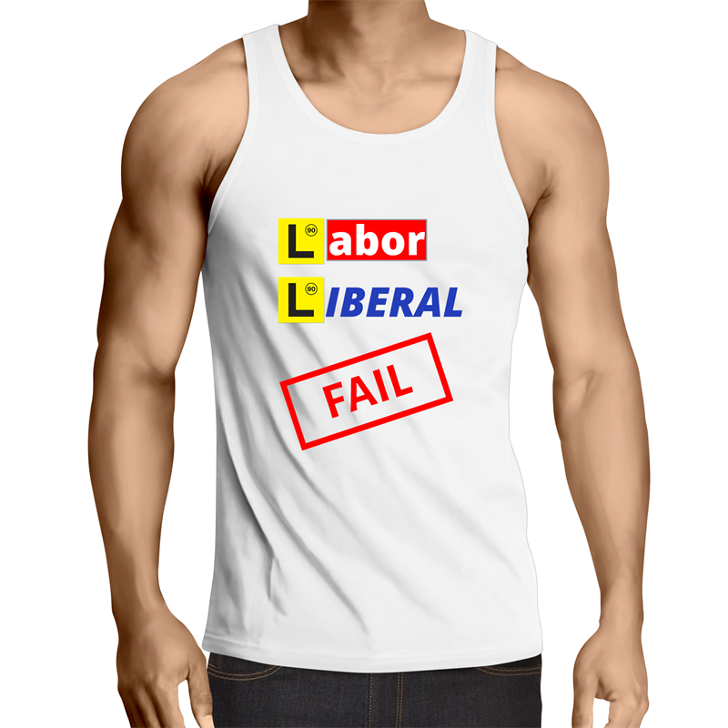 Singlet Top - Labor Liberal never pass the test - Mens