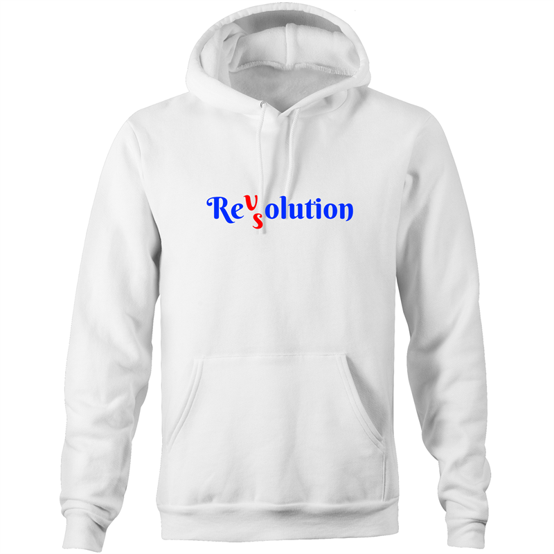 Pocket Hoodie Sweatshirt - Revolution VS Resolution - Unisex