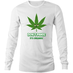 Long Sleeve T-Shirt - Don't panic it's organic - Mens