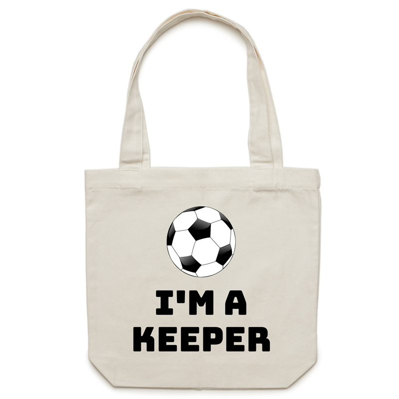 Canvas Tote Bag - I'm a keeper – Carrie