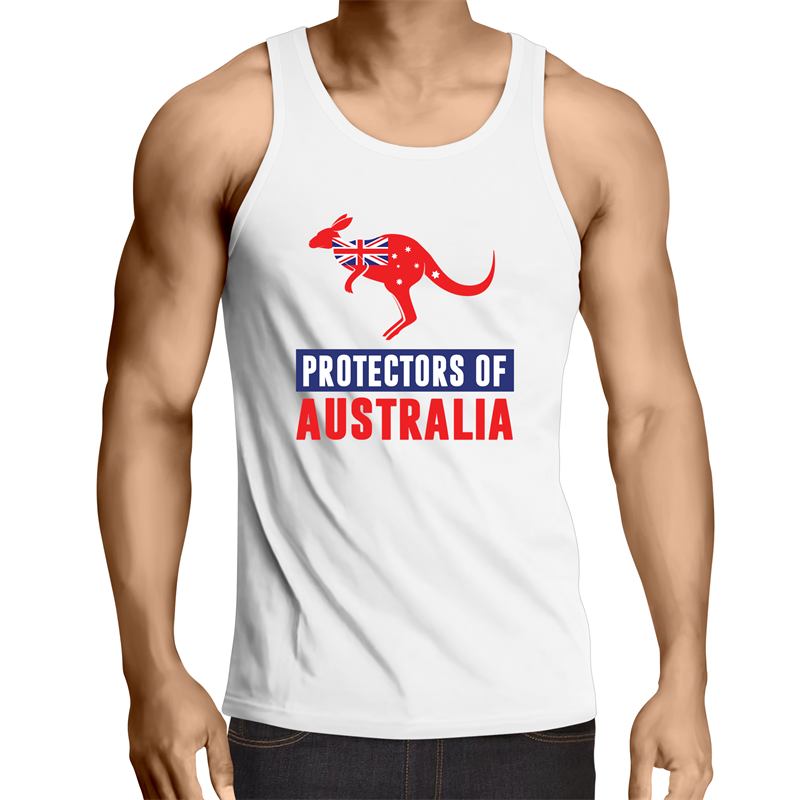 Singlet Top - Protectors of Australia - Mens