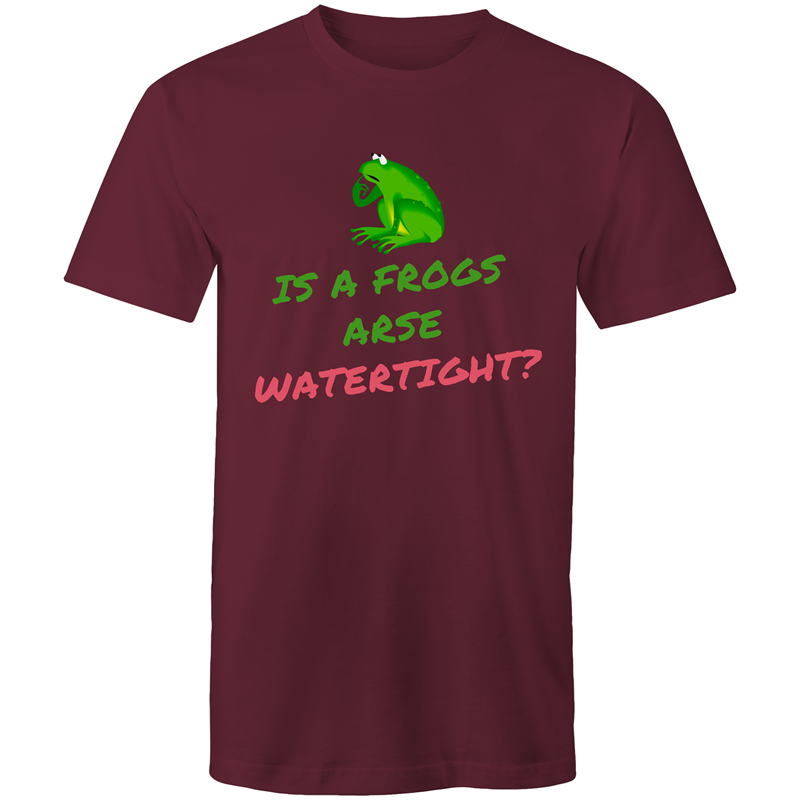 Colour Staple T-Shirt – Is a frogs arse watertight? - Mens
