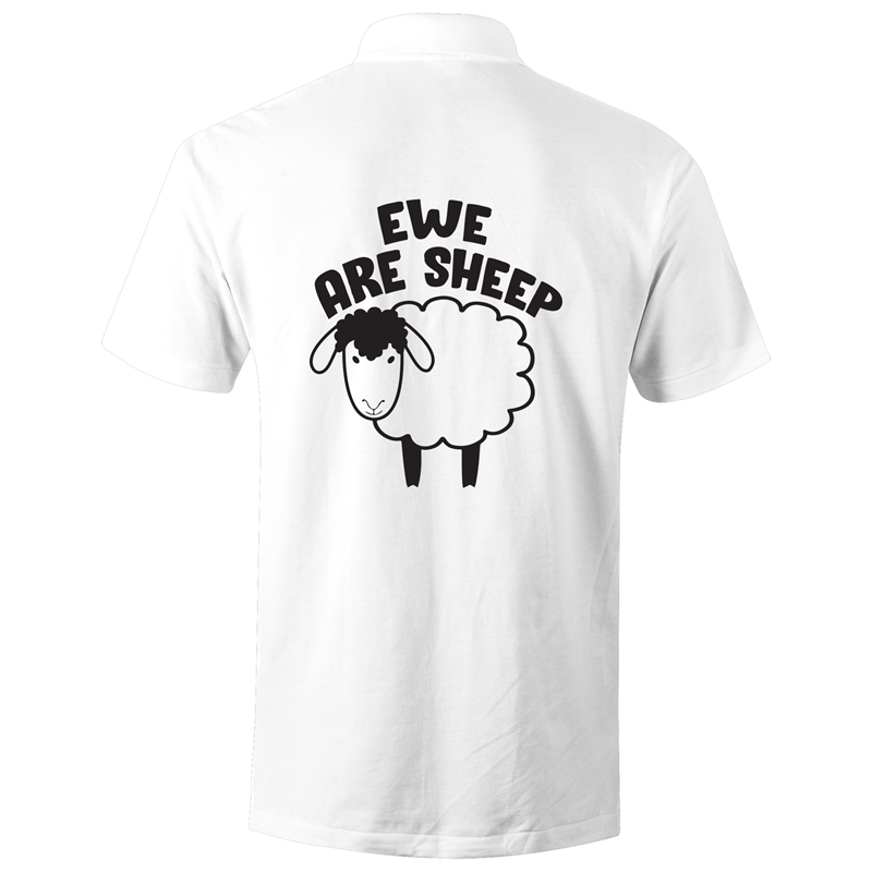 Polo Shirt - Ewe are sheep - Black text - AS Colour Chad