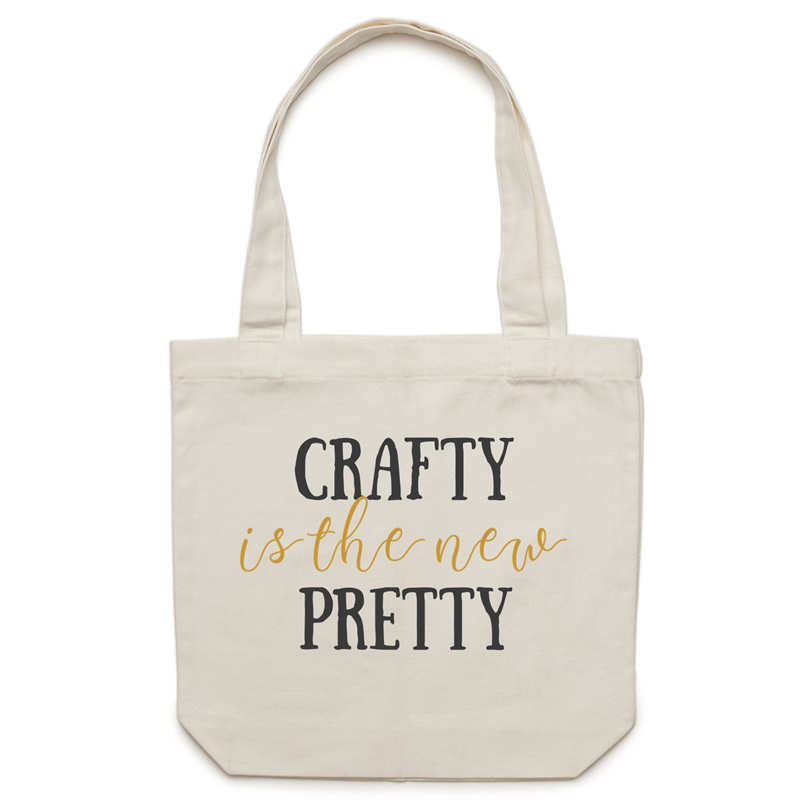 Canvas Tote Bag - Crafty is the new pretty – Carrie