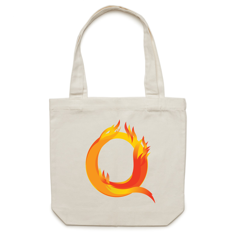 Canvas Tote Bag - Q – Carrie