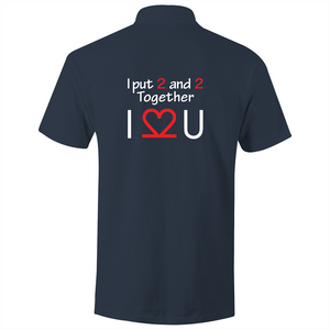 Polo Shirt - I Love You - White text - AS Colour Chad