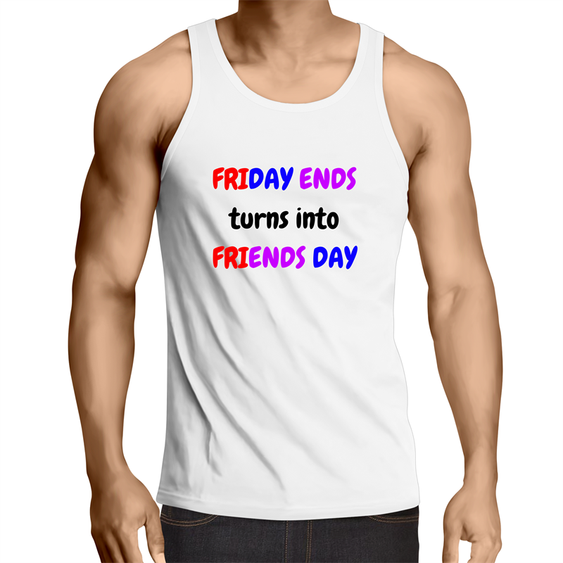 Singlet Top - Friends Day - Mens - WHITE SHIRT ONLY