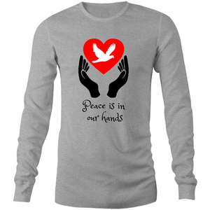 Long Sleeve T-Shirt - Peace is in our hands - Mens