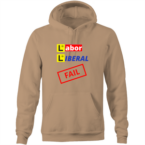 Pocket Hoodie Sweatshirt - Labor Liberal Fail – Unisex