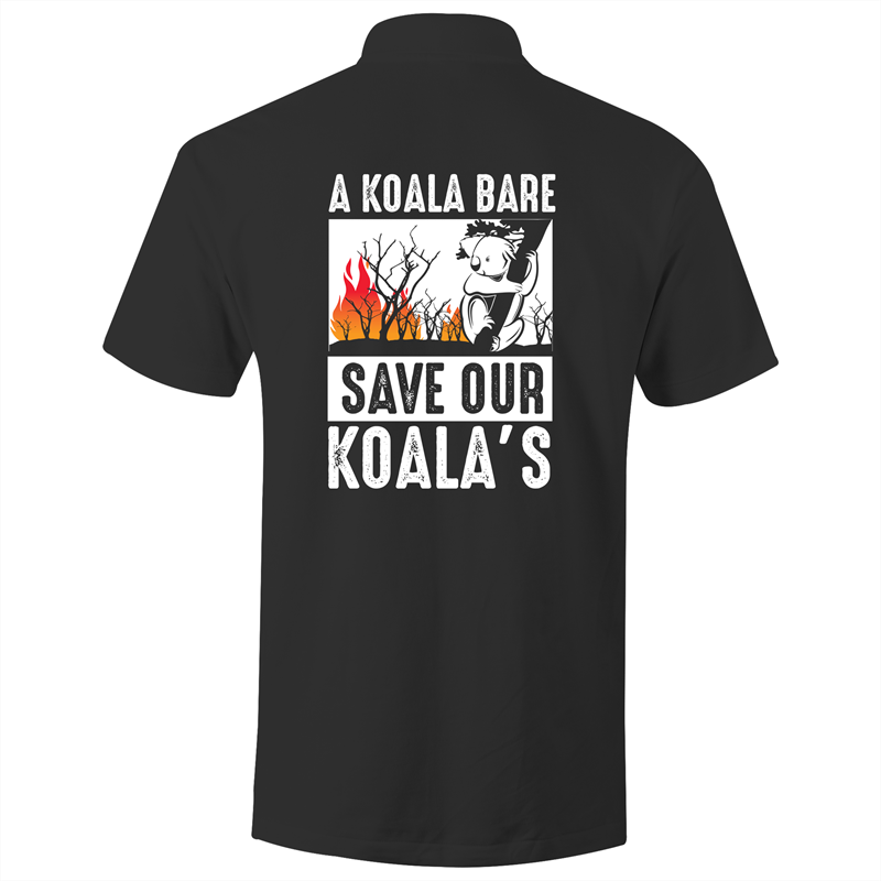 Polo Shirt - A Koala Bare - White text - AS Colour Chad