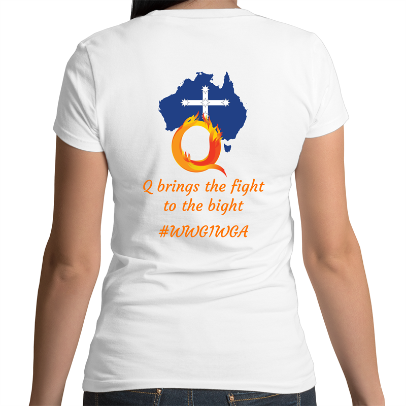 Bevel V-Neck T-Shirt - Q brings the fight to the bight – Women's