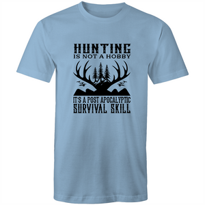 Colour Staple T-Shirt – Hunting is not a hobby - black text - Mens