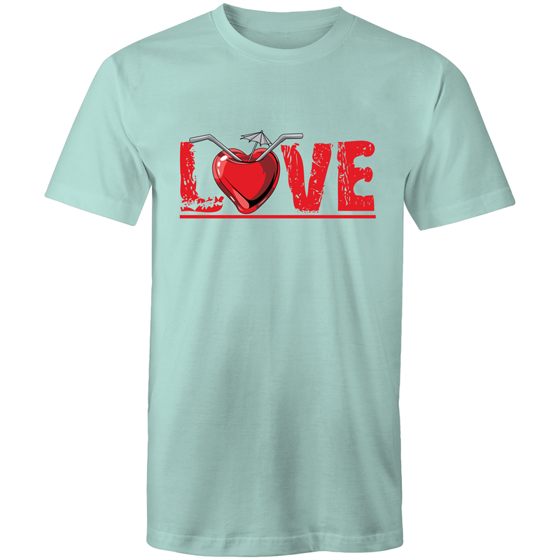 Colour Staple T-Shirt – Love drink - Mens
