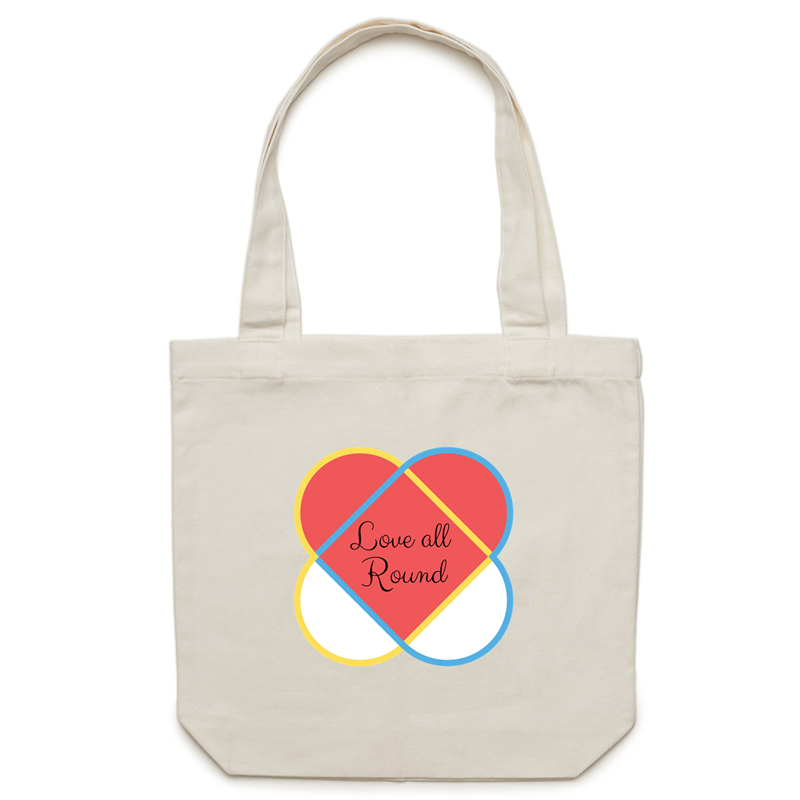 Canvas Tote Bag - Love all round – Carrie