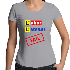 Scoop Neck T-Shirt - Labor Liberal fail – Women's