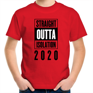 Sportage Surf - Straight outta isolation 2020 - Black Text - Kids Youth T-Shirt