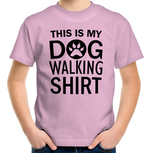 Sportage Surf - This is my dog walking shirt - Black Text - Kids Youth T-Shirt