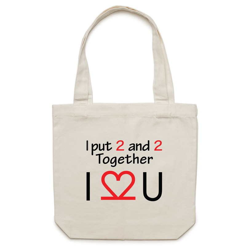Canvas Tote Bag - I Love You – Carrie