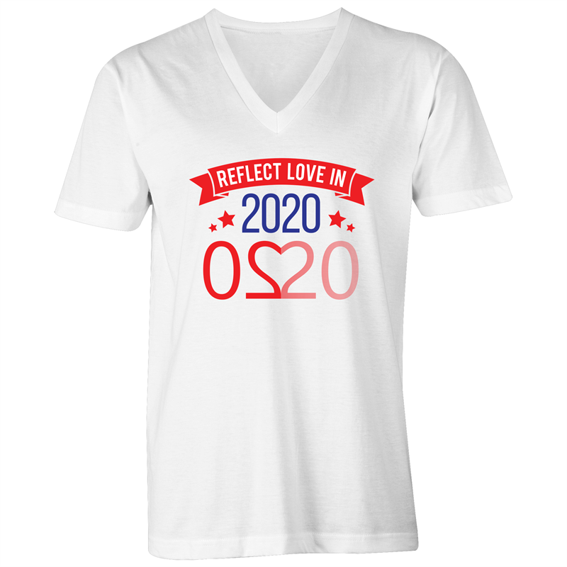 V-Neck Tee T-Shirt - Reflect Love in 2020 - Mens