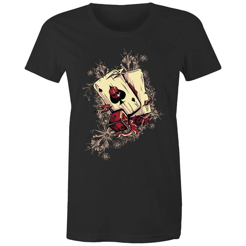 Maple Tee – Gambling design 4 - Women's