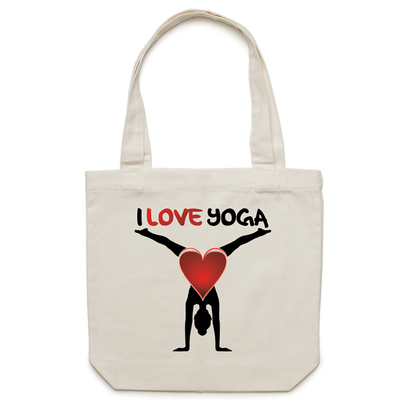 Canvas Tote Bag - I Love Yoga - Carrie