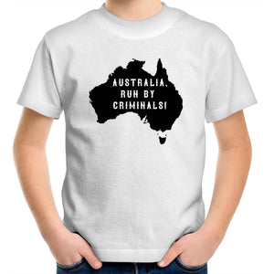 Sportage Surf - Australia run by criminals - Kids Youth T-Shirt