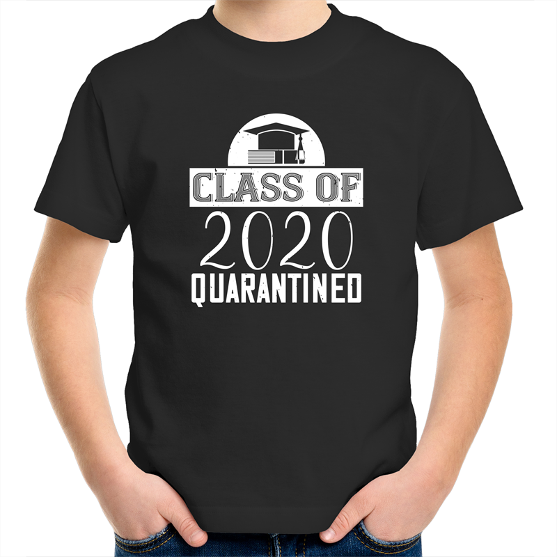 Sportage Surf - Class of 2020 Quarantined - White Text - Kids Youth T-Shirt