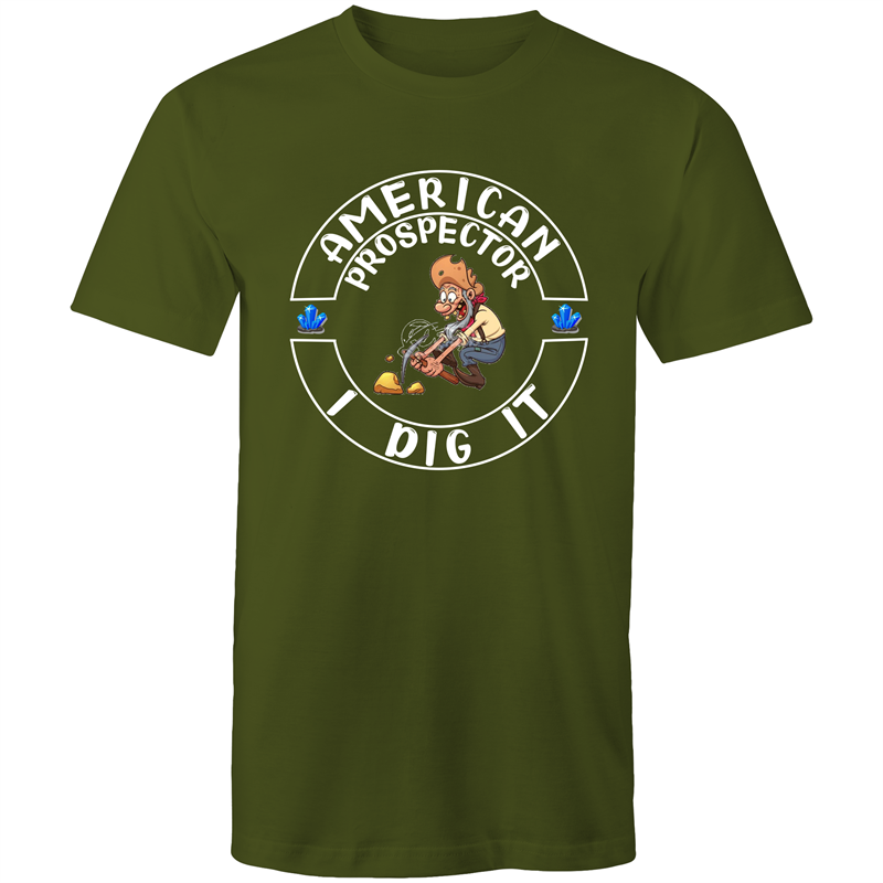 Colour Staple T-Shirt – American prospector I dig it - Mens