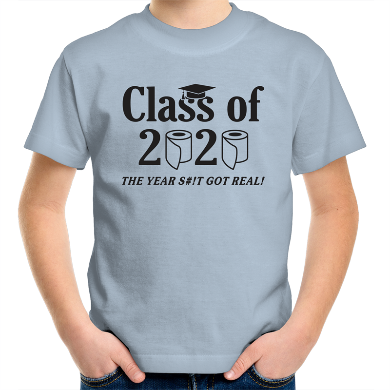 Sportage Surf - Class of 2020 the year the sh#t got real - Black Text - Kids Youth T-Shirt